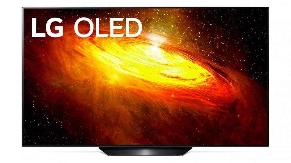 Render of LG's BX OLED TV