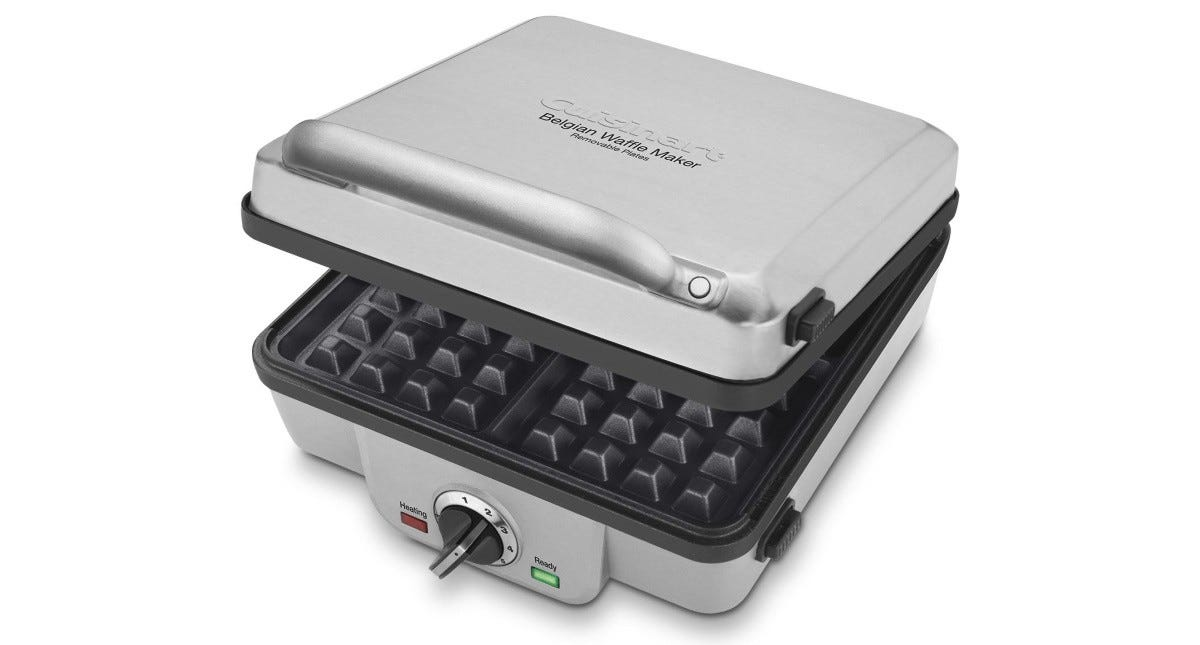 The Cuisinart WAF-300 Belgian Waffle Maker with Pancake Plates.