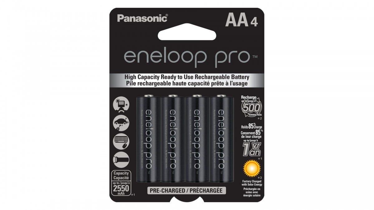 The AA Panasonic Eneloop Pros