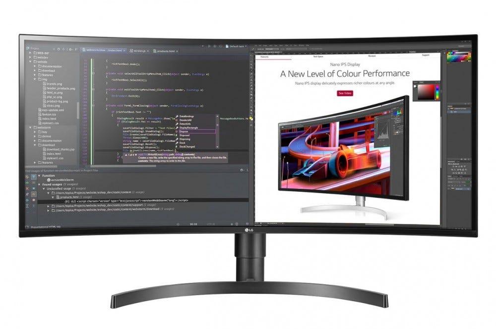 LG ultraszéles monitor termelékenység