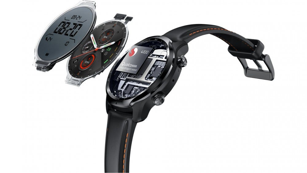 """An """"exploded view"""" of the TicWatch Pro 3"""