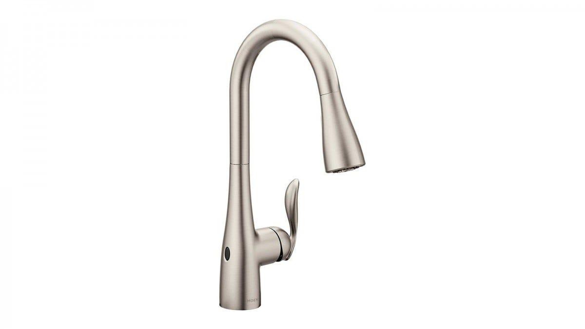 A Moen Motionsense smart faucet.