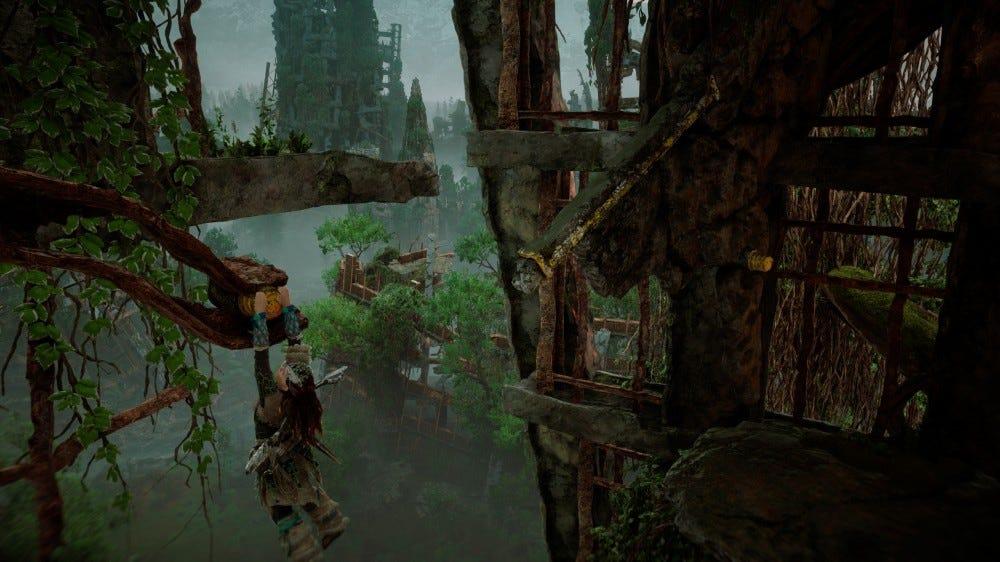 Horizon Zero Dawn climbing screenshot