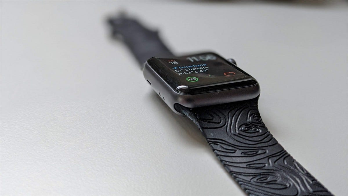 The top of the Groove Apple Watch Band