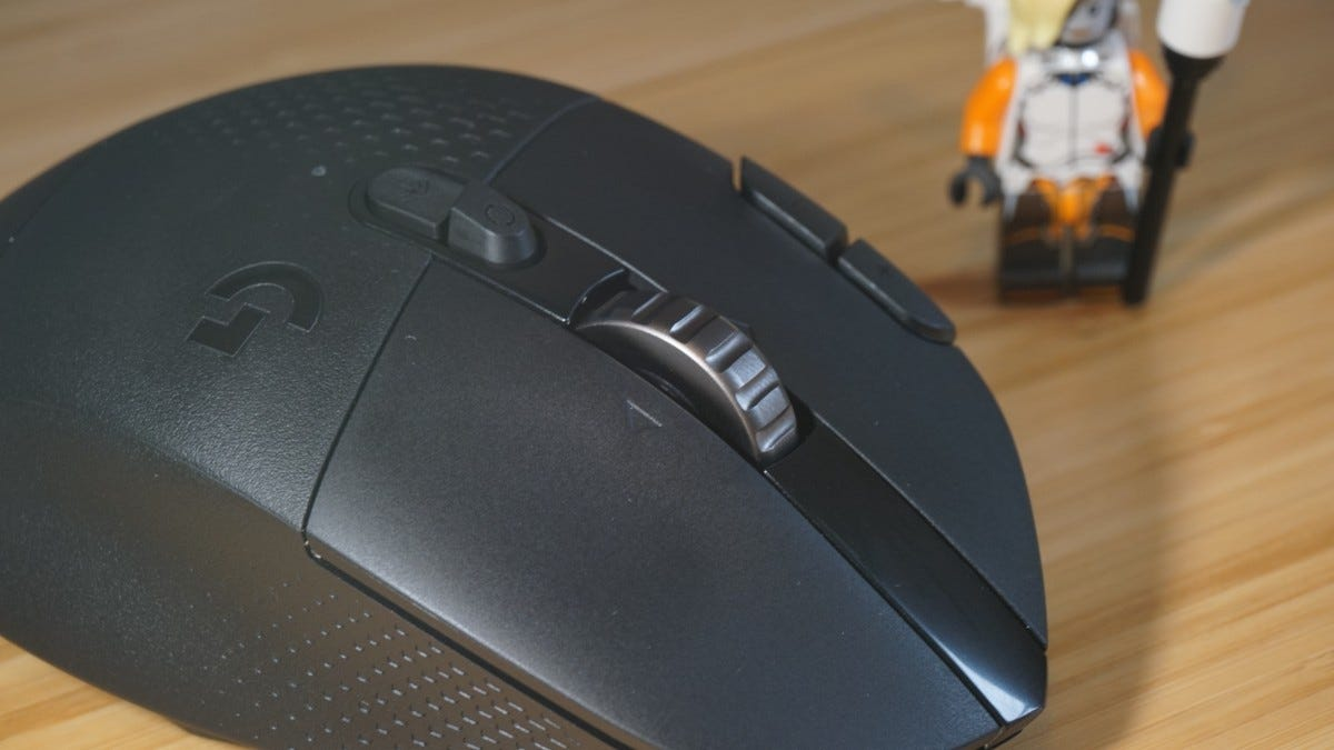 Scroll wheel of the G604 mouse.