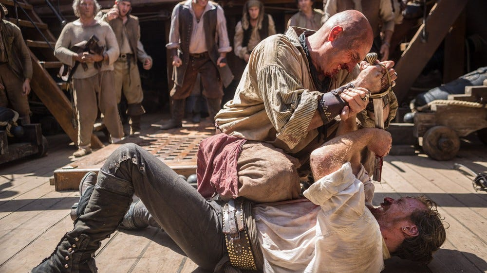 Captain Flint fights for his life.