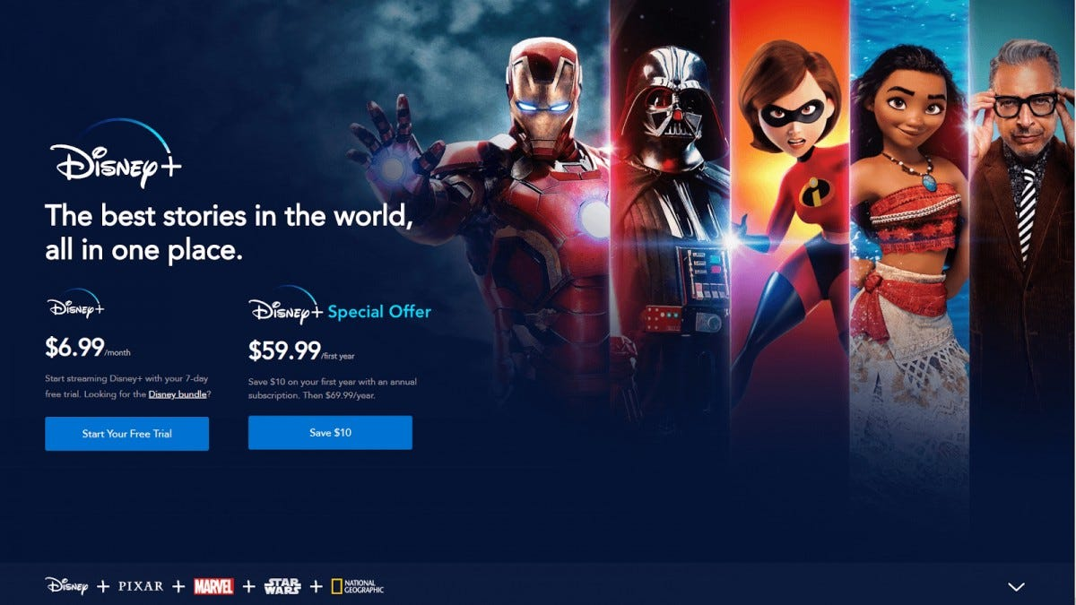 Disney+ Cyber Monday Deal