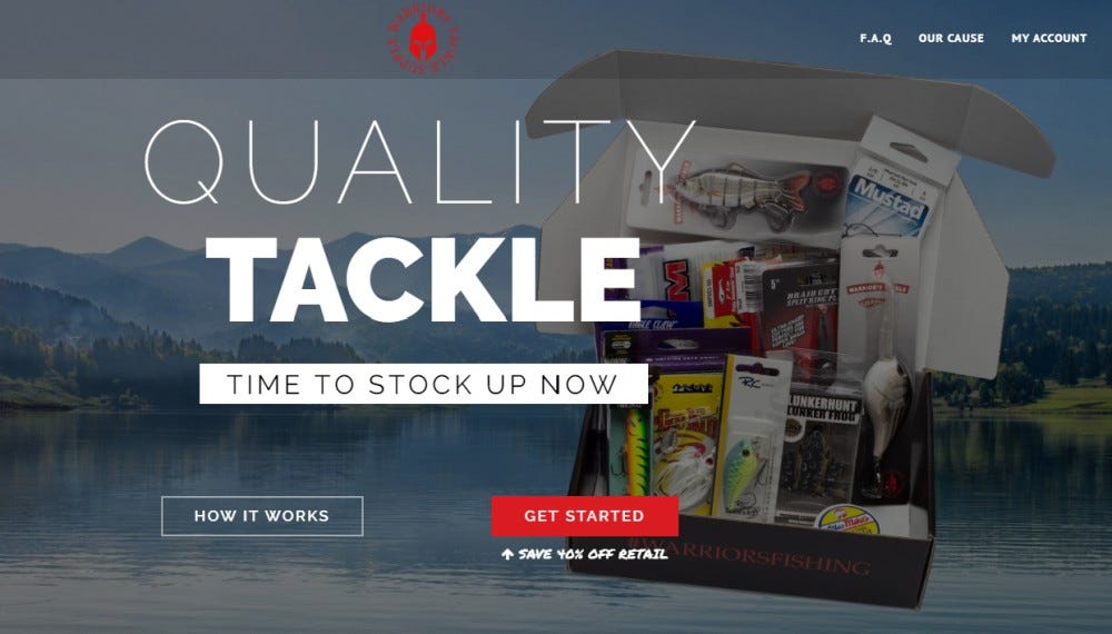 Warrior's Tackle Supply best curated fishing subscription box perch pike walleye