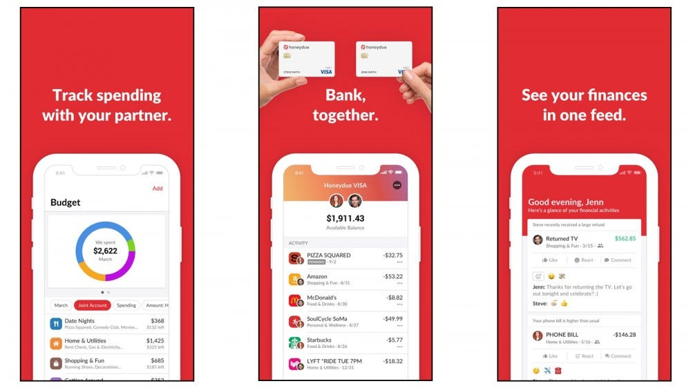 Honeydue app for couples banking