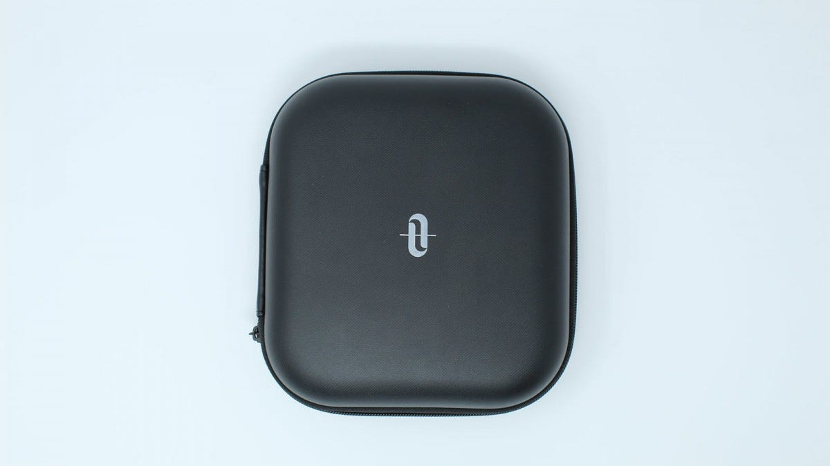 The Taotronics Case, in black with a logo.