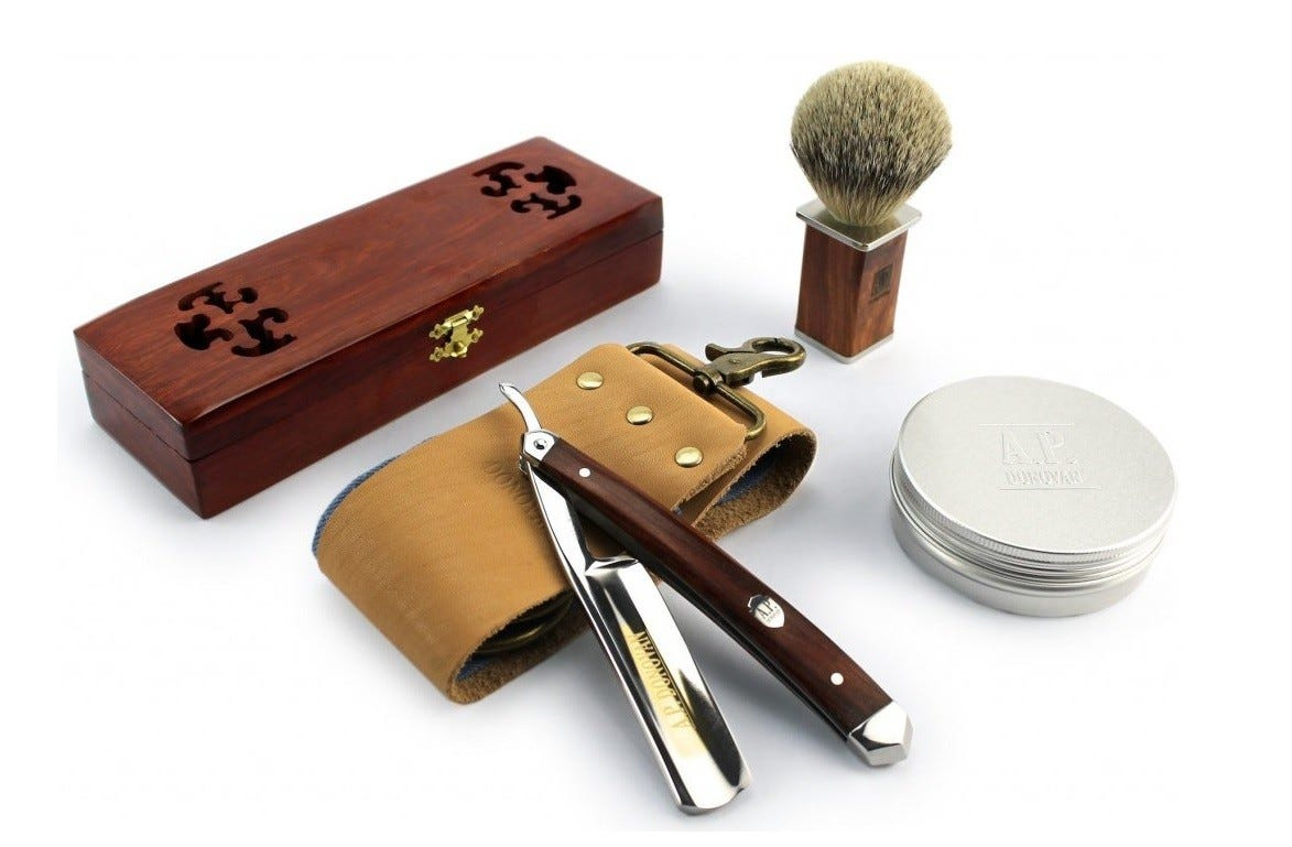 A.P Donovan straight razor shave kit