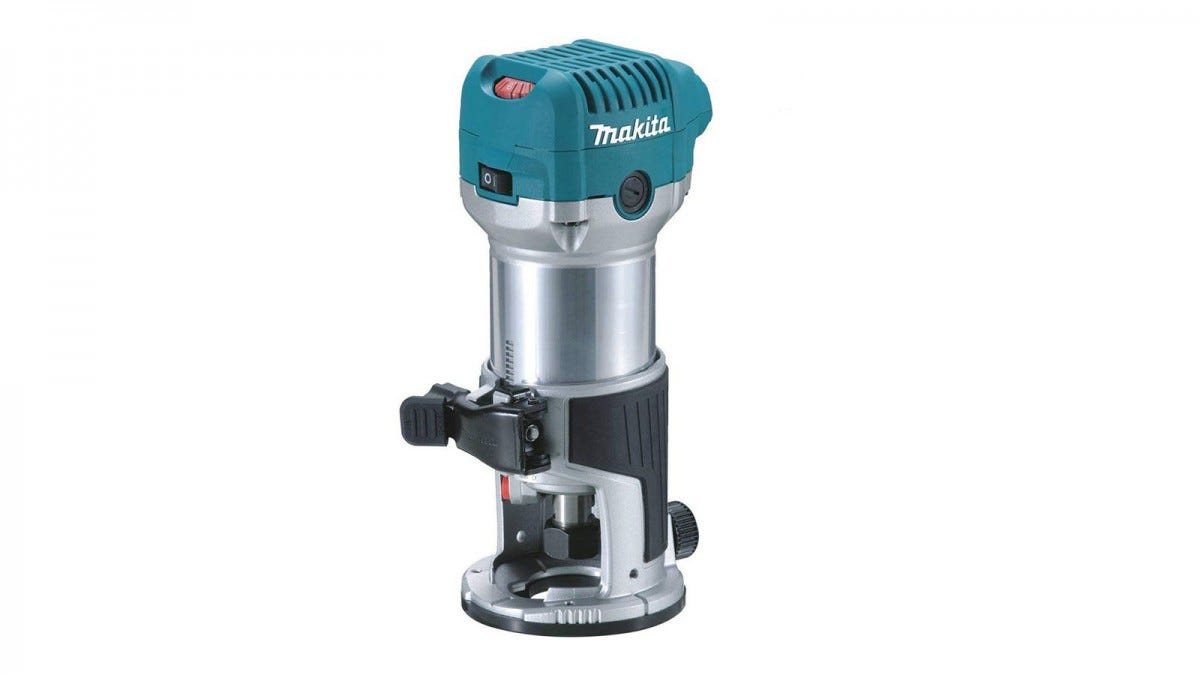 Makita Rt0701C router with fixed base attached.