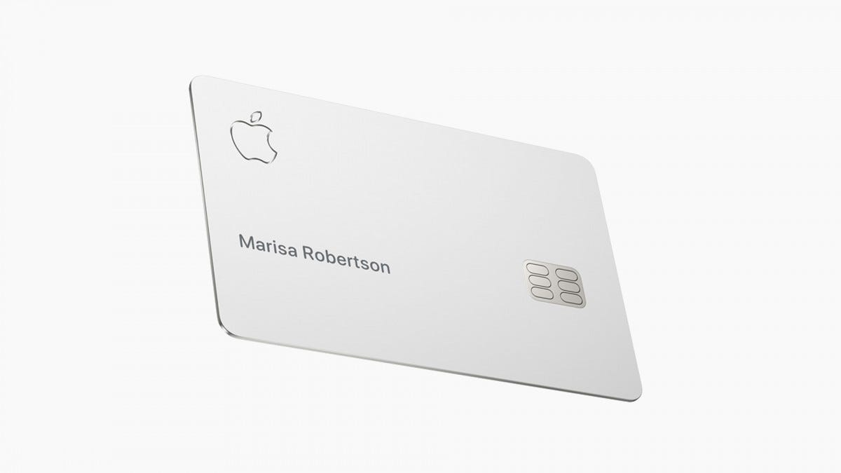 The shiny new Apple Card.