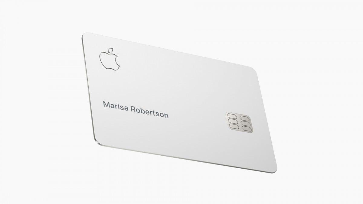 The shiny new Apple Card.