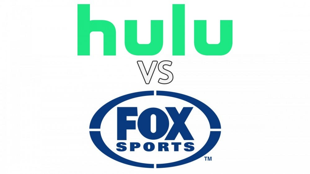 The Hulu and Fox Sports logos.