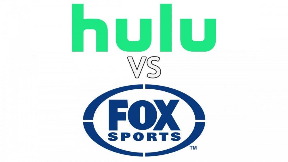 The Hulu and Fox Sports logos.