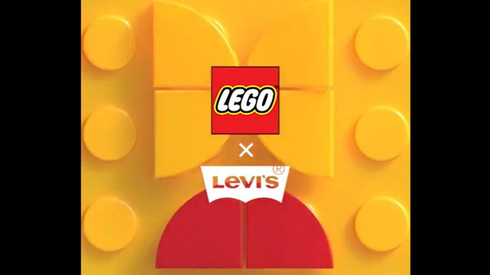 LEGO x Levi collaboration logos