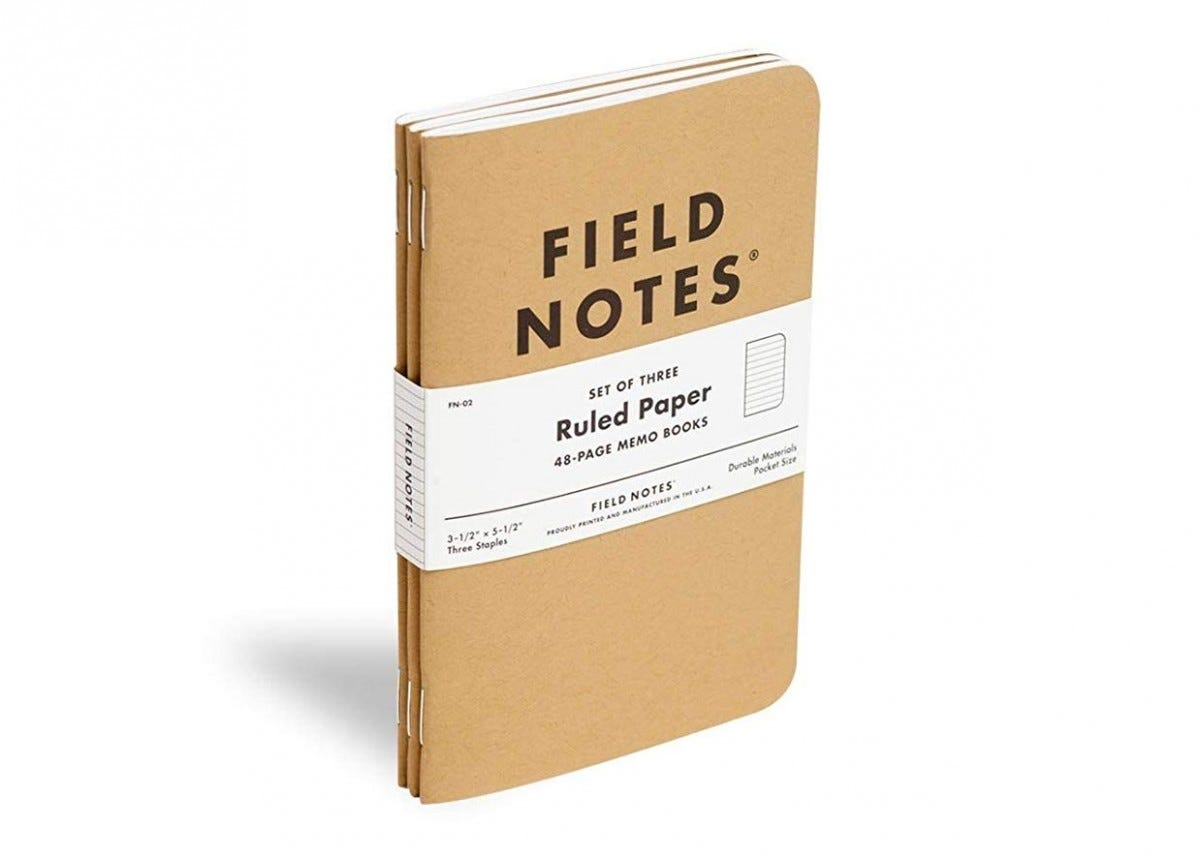Field Notes pocket notebooks