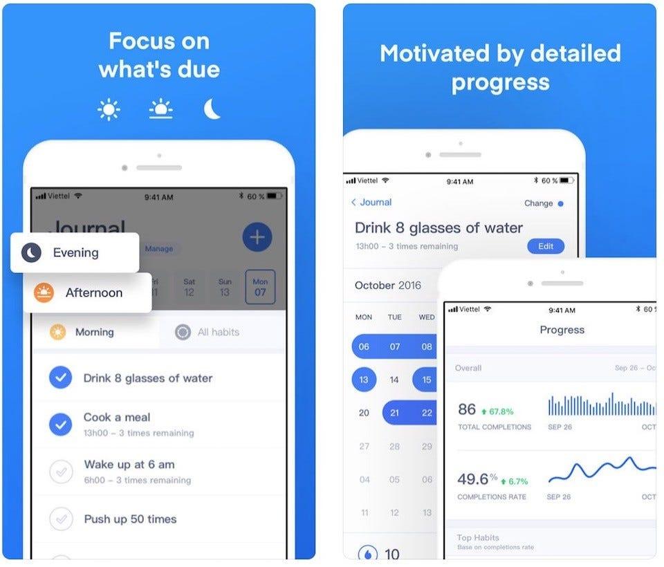 3 app per creare delle sane abitudini