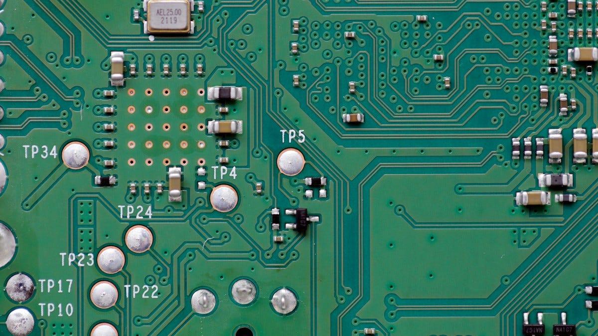 A close shot of a PI 4 circuit.