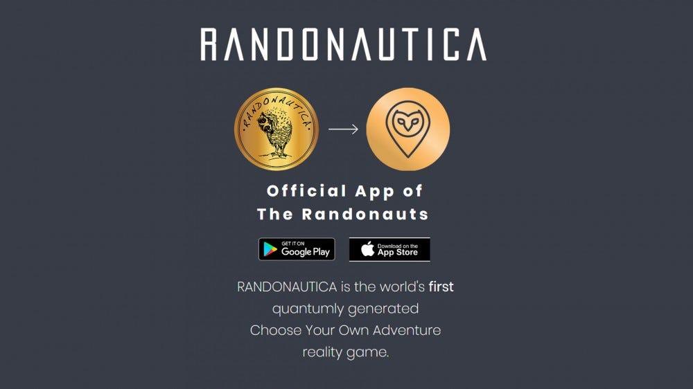 Randonautica website homepage