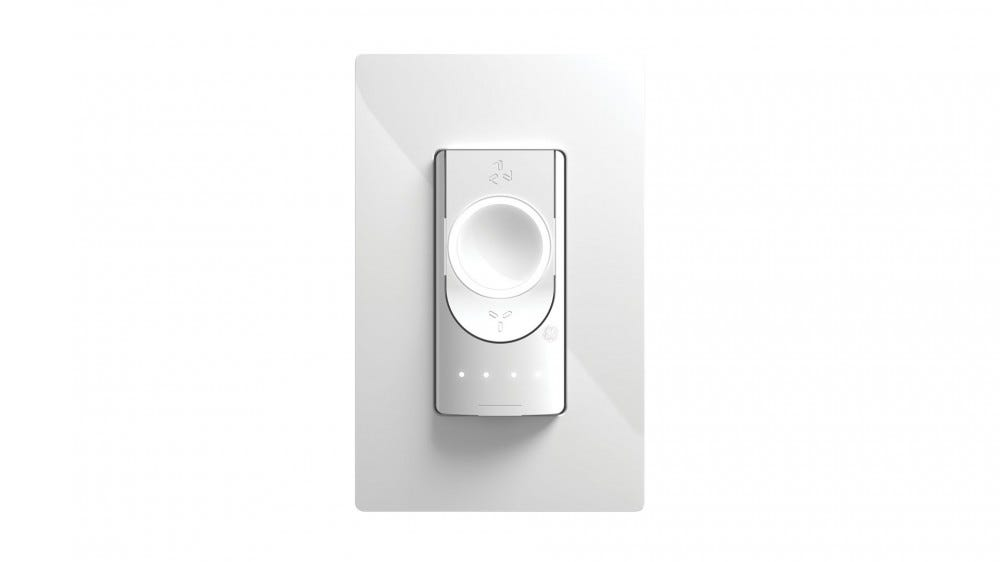 A smart fan switch with four indicator lights.