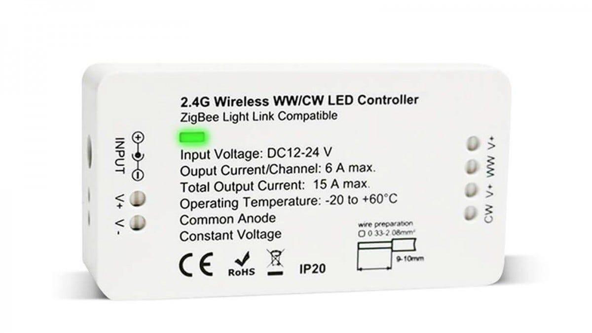 The GIDERWEL Home Smart Zigbee RGBCCT Strip Controller.