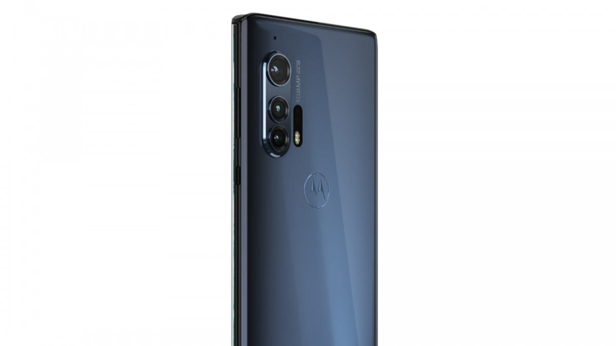 A photo of the Motorola Edge+.