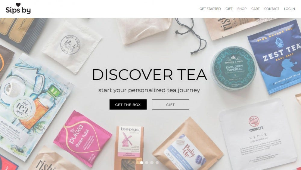 Sips By tea subscription box tea bags best tea flavors
