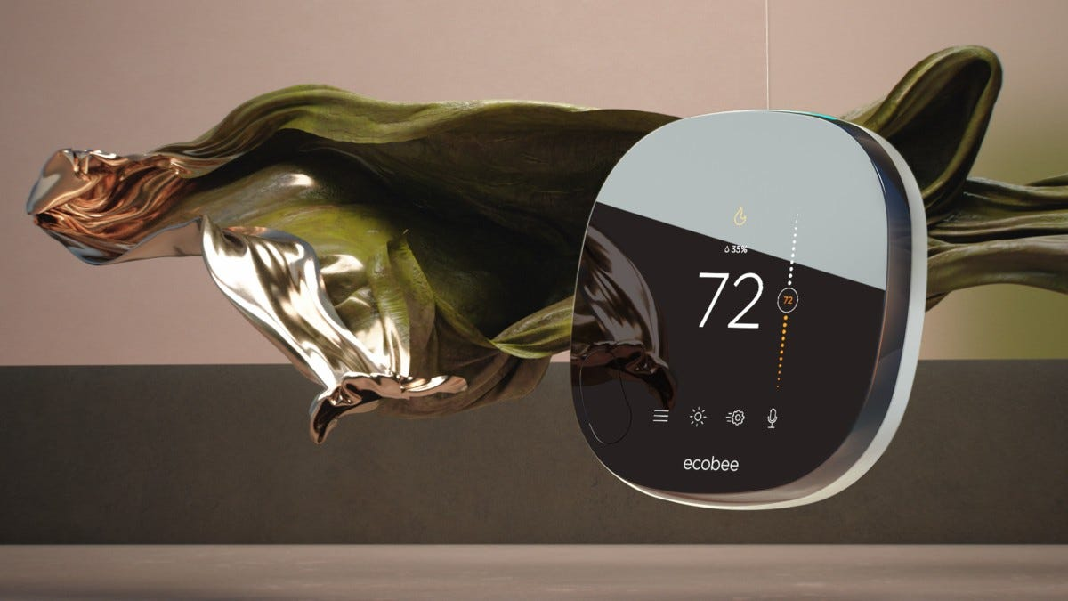 The ecobee smart thermostat.