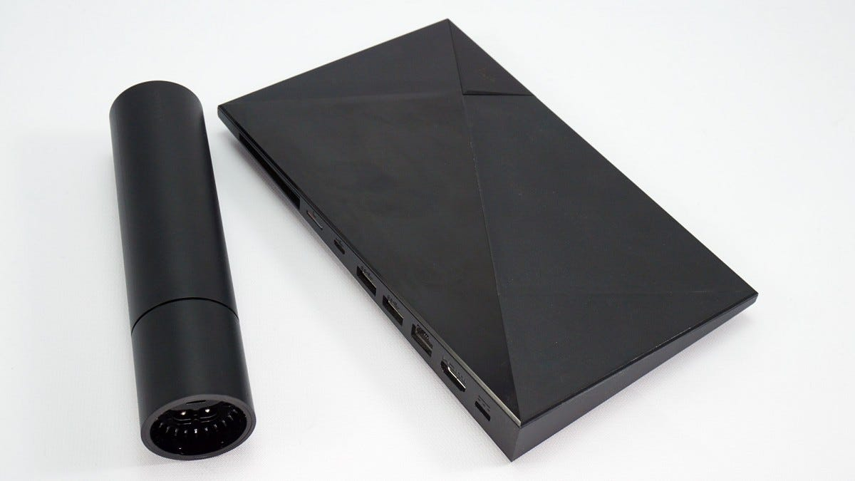 The new cylindrical SHIELD versus the original SHIELD TV.