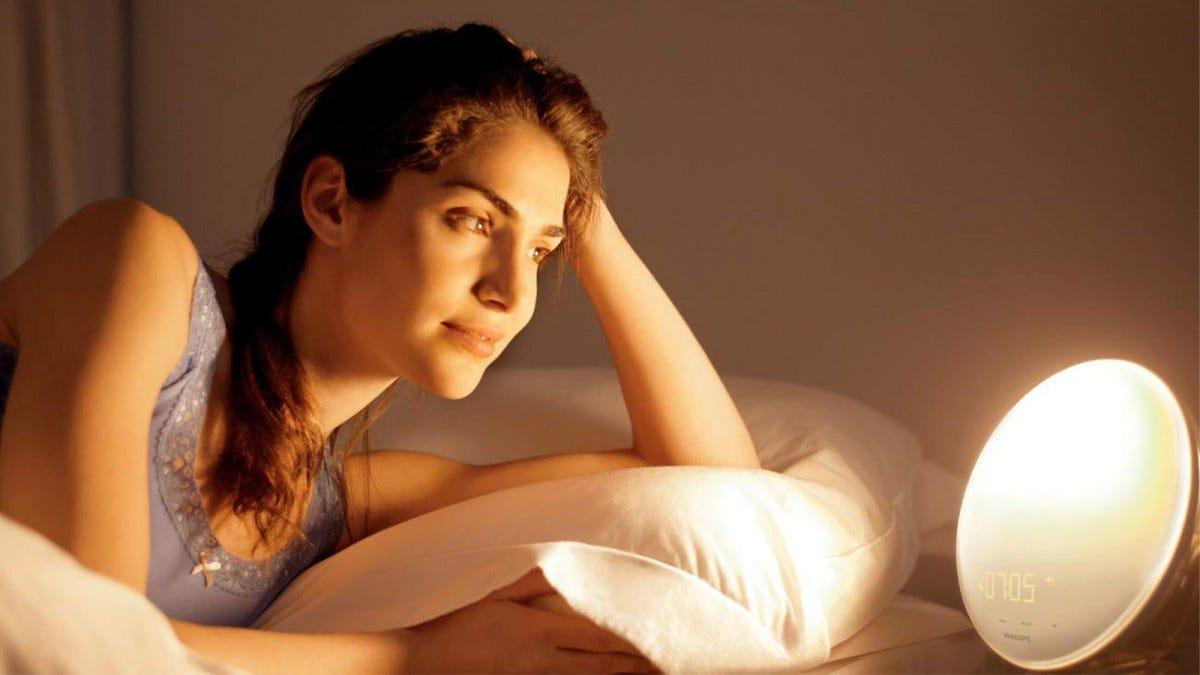 Philips Wake-Up Light Bedroom