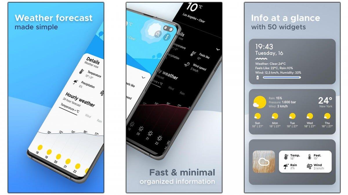 Capturas de pantalla de la aplicación Overdrop.