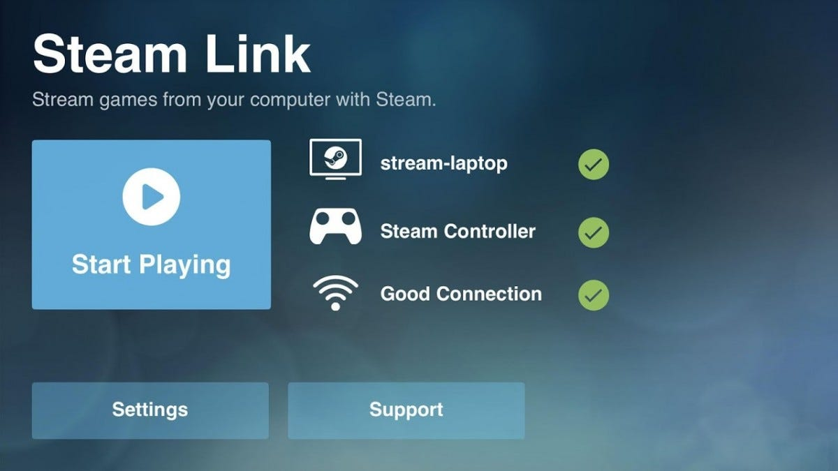 Steam in-home streaming is well-supported.