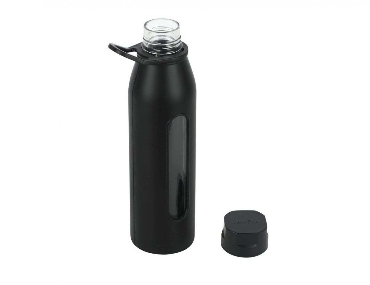 The Takeya Classic glass water bottle