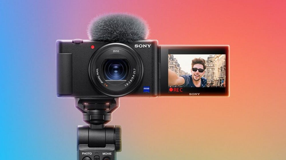 A photo of the Sony ZV-1 camera.
