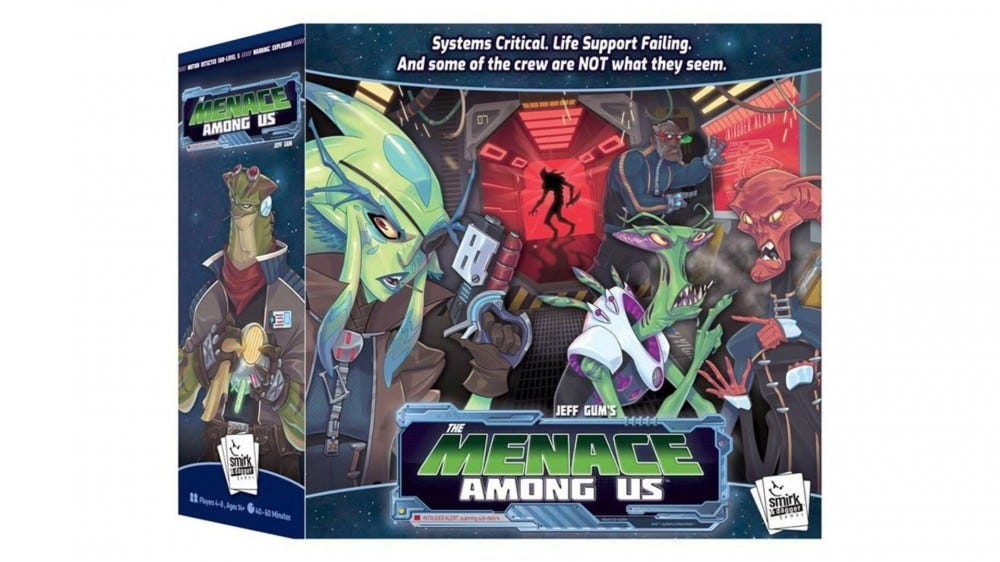 The Menace Among Us board game box