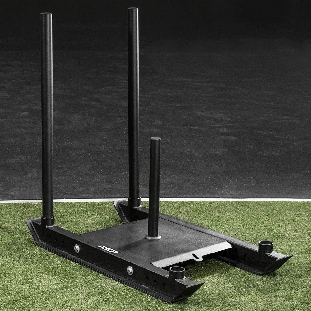 weight sled sitting on astro turf