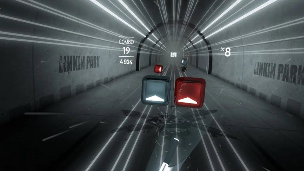 A Beat Saber course set in a subway.