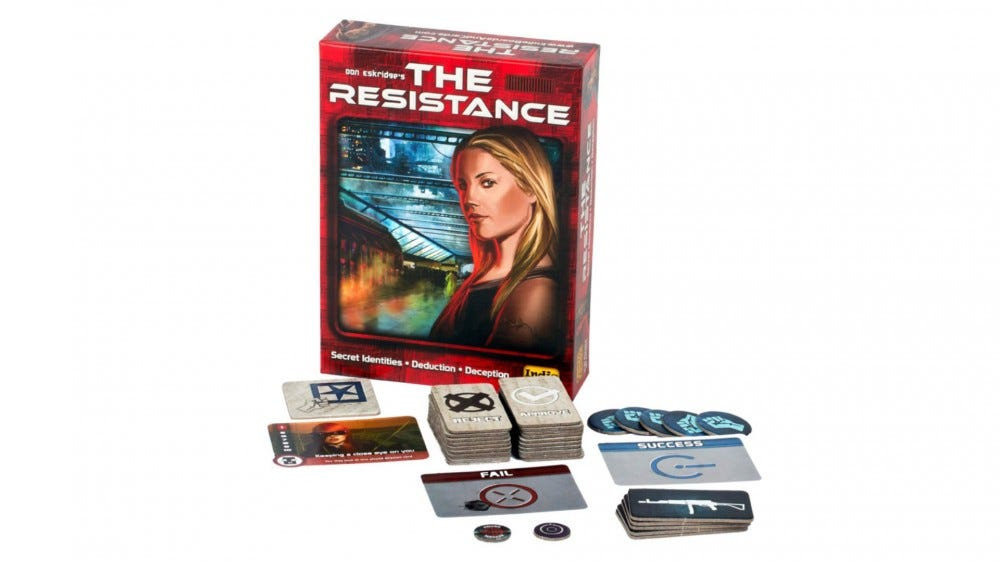 The Resistance board game box art