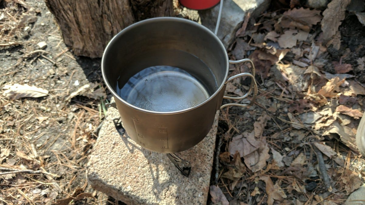 boiling water camping