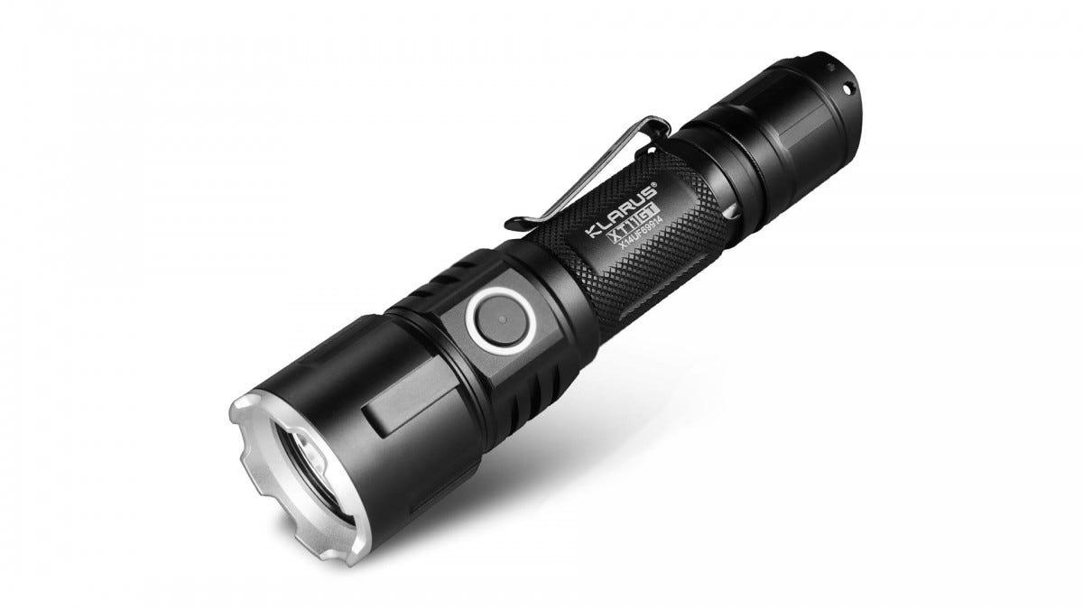 The Klarus tactical flashlight.