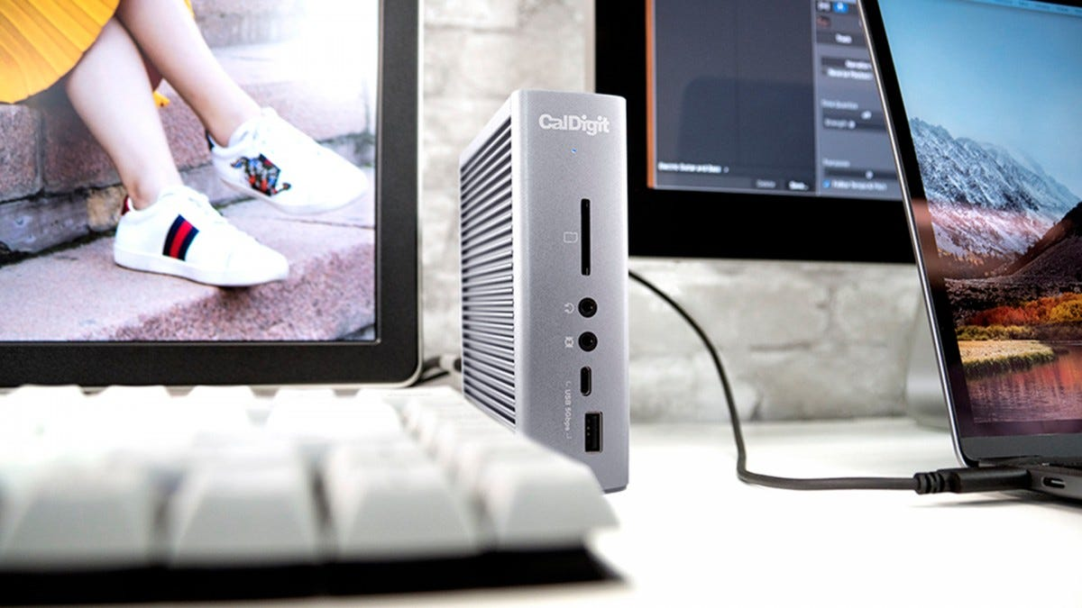 The CalDigit Thunderbolt 3 docking station