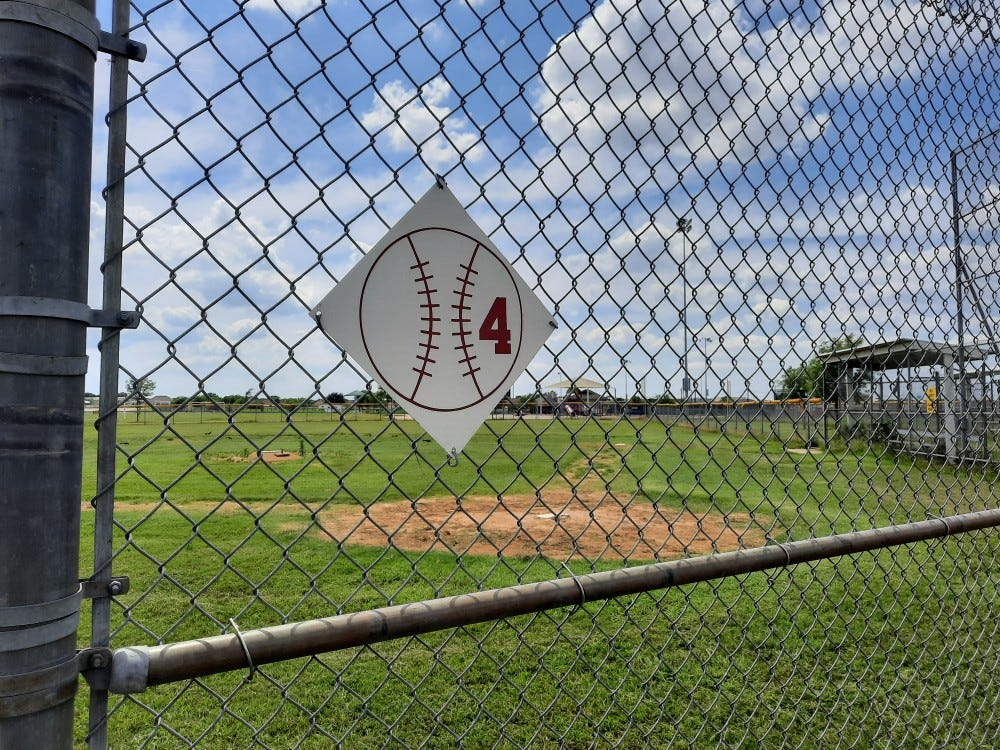 Baseball field fence