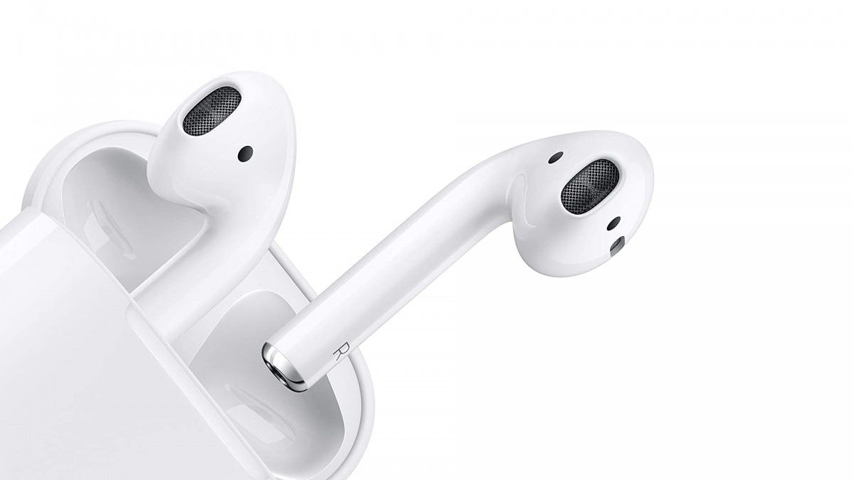 A photo of the Apple AirPods.