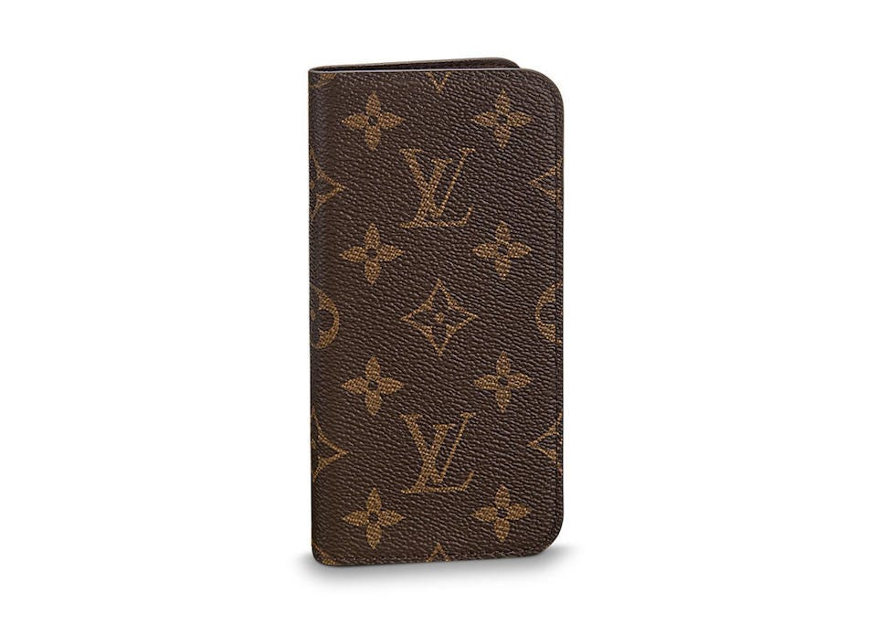 db7ce16cc17db5 Elegance is key to the Louis Vuitton iPhone Folio Case. Available for both  iPhone X and iPhone 7/8, the case opens up like the most stylish wallet  you've ...