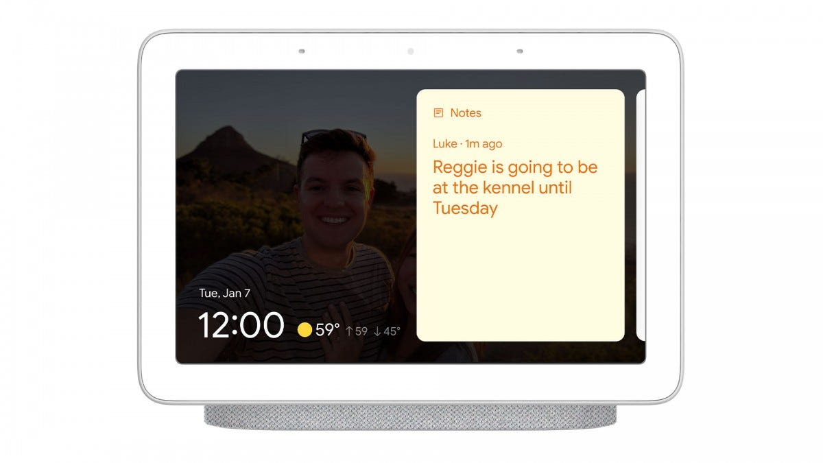 Google Smart Display Sticky Notes