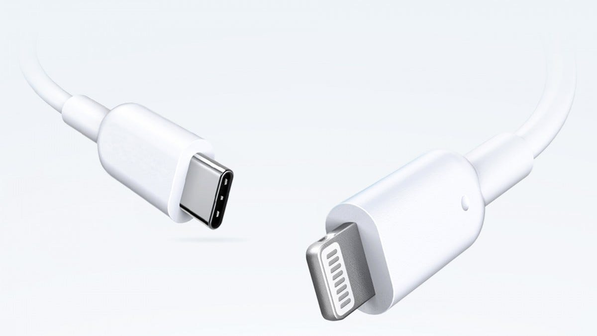 The Anker Powerline USB-C to Lightning cable.