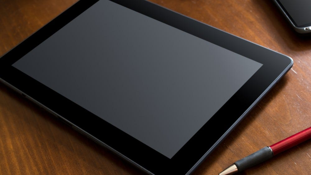 Tablet on the table