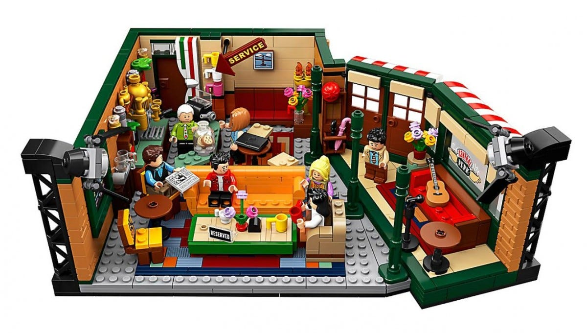 The Central Perk LEGO Set.